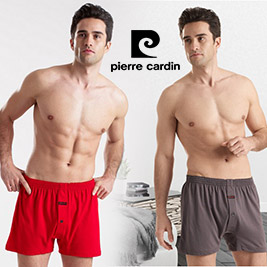 【Pierre Cardin皮爾卡登】吸濕排汗針織開襟平口褲