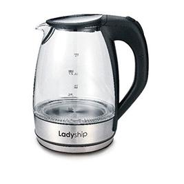 【Ladyship 貴夫人】LED 玻璃快煮壺 KM-618