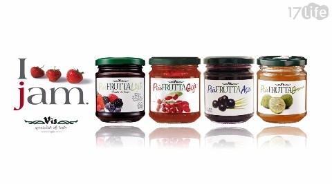 義大利米斯/義大利/vis jam/果醬/巴西莓/枸杞/香檸檬/無加糖綜合莓果醬/莓果醬/綜合莓果醬/無加糖/水果/歐盟/低GI/低糖