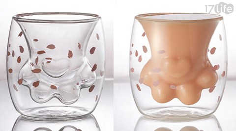 貓爪杯/玻璃杯/爆紅/雙層杯/隔熱杯/咖啡杯