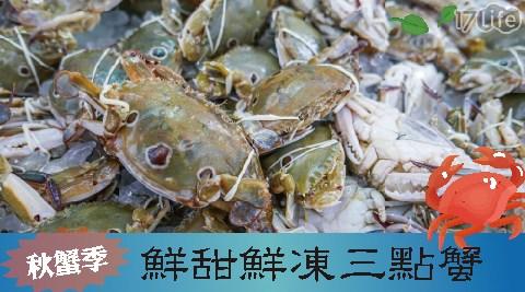 秋蟹/螃蟹/三點蟹/鮮凍三點蟹/中秋/烤肉/中秋烤肉/BBQ