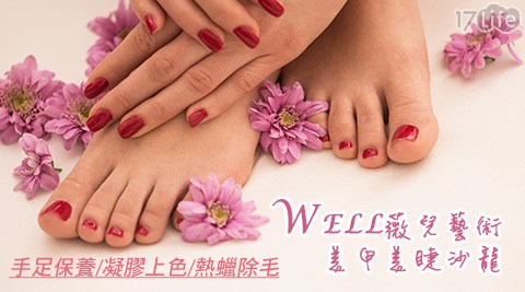 Well/薇兒/藝術/美甲/沙龍/板橋/熱蠟除毛/手足保養