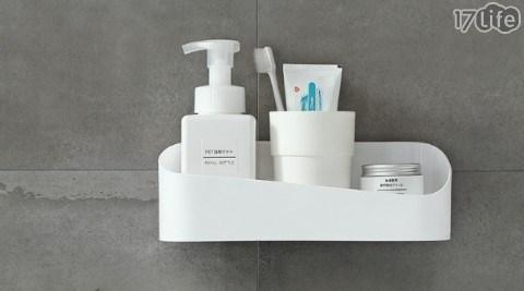 日系無印風格 浴室強力黏貼 壁掛 收納盒 共4色