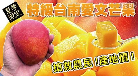 【挑戰通路最低!秒殺破盤】正值台南出產的愛文,大顆飽滿紅豔美麗,細緻香甜多汁,香味一極棒!