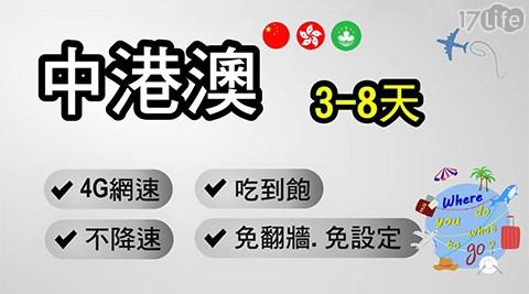 網卡/上網卡/3G卡/4G卡/漫遊卡/出國/網路卡/香港/澳門/中國/吃到飽/漫遊