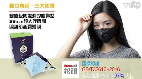 【松研570V】PM2.5認證3D高效防塵口罩(10入/盒)