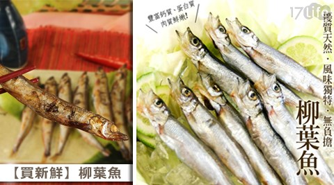 平均每盒最低只要65元起即可購得【買新鮮】柳葉魚1盒/20盒/30盒/40盒,規格:90g(8隻)±10%/盒,購滿10盒免運。