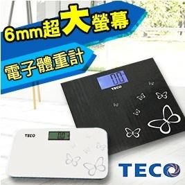 【東元TECO】6mm超大螢幕時尚花紋電子體重計