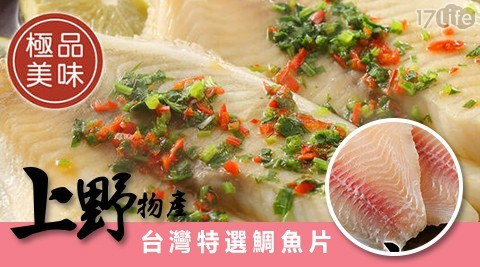 上野物產/台灣特選鯛魚片/台灣鯛/魚片/海鮮/魚/鯛魚/火烤/烤肉/晚餐