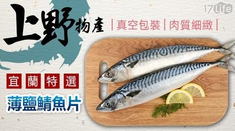 上野物產/燒烤/宜蘭特選薄鹽鯖魚片/宜蘭/鯖魚片/薄鹽鯖魚片/鹽鯖魚/魚片/晚餐/海鮮