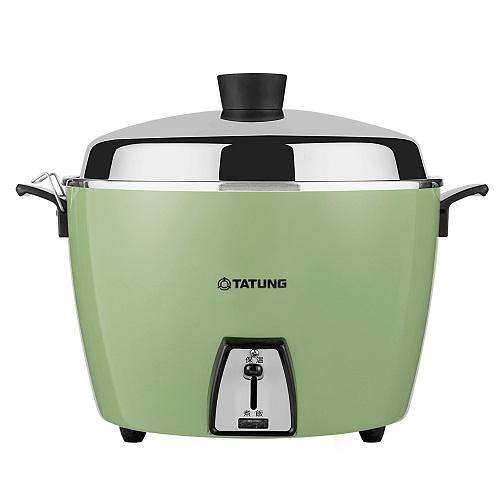 【TATUNG 大同】 10人份不鏽鋼內鍋電鍋 TAC-10L-DG (翠綠色) 1入/組