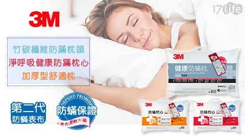 3M/竹碳纖維/防蹣枕頭/加厚竹炭型/竹炭/枕頭/防蹣/淨呼吸