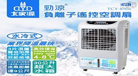 【大家源】30L勁涼負離子遙控空調扇TCY-8906 1入/組