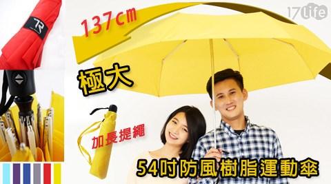 TDN/極大/54吋/防風/樹脂/運動傘/傘/雨傘/遮陽傘/防曬